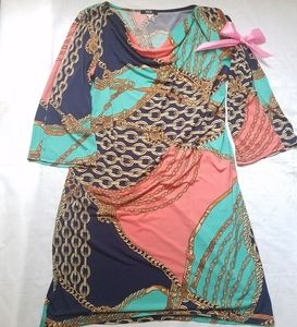 multicolored dress MSK. women's clothing